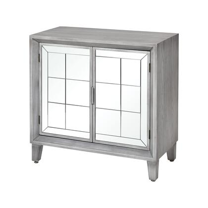 17258 Mitchell Cabinet  in Light Grey Veneer