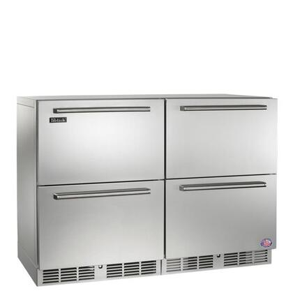 Perlick Signature HP48FRS55 Side-By-Side Refrigerator Stainless Steel, 1