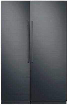 Dacor  786309 Column Refrigerator & Freezer Set Graphite Stainless Steel, 1