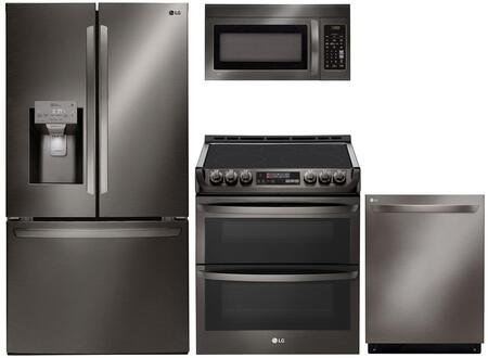 LG 989092 Kitchen Appliance Package & Bundle Black Stainless Steel, main image