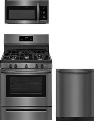 Frigidaire 958033 Kitchen Appliance Package & Bundle Black Stainless Steel, package 7