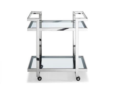 Whiteline Vegas ST1383 Commercial Hospitality Cart Stainless Steel, ST1383 front