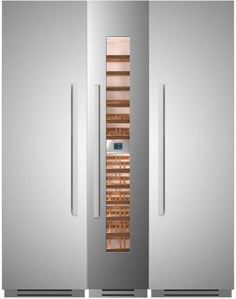 Bertazzoni  1296149 Column Refrigerator & Freezer Set Stainless Steel, 1