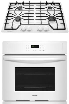 """2 Piece Kitchen Appliances Package with FFEW3026TW 30"""" Electric Single Wall Oven and FFGC3026SW 30"""" Gas Cooktop in"""