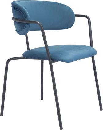 101514 Emrys Chair Blue  (Set of