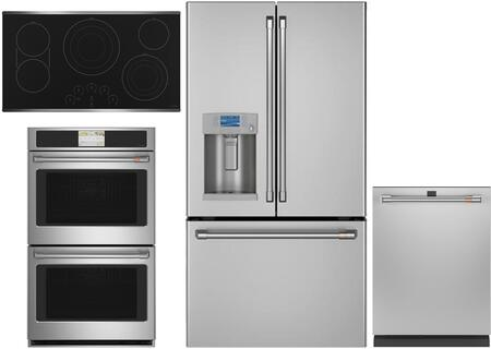 Cafe Matte Collection 1073588 Kitchen Appliance Package Stainless Steel, Main image