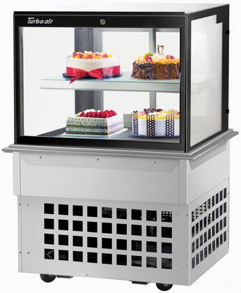 Turbo Air  TBP3646FDN Display and Merchandising Refrigerator Stainless Steel, TBP3646FDN Angled View