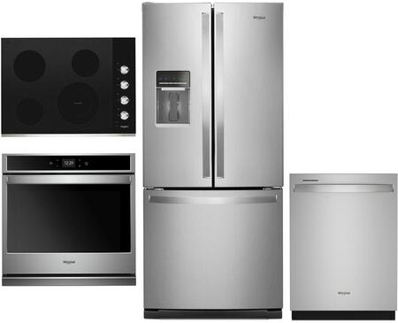 Whirlpool  1039939 Kitchen Appliance Package Stainless Steel, main image