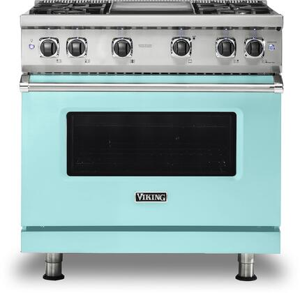 Viking 5 Series VGR5364GBW Freestanding Gas Range Blue, VGR5364GBW Gas Range