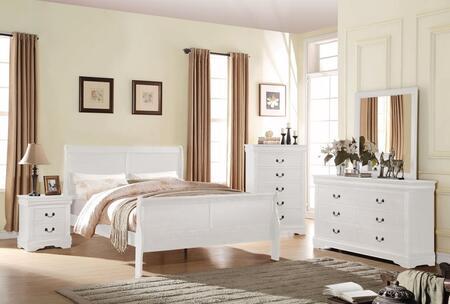 Acme Furniture Louis Philippe 5 PC Set