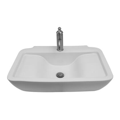 4-1126WH Leeds 25″ Rect Wall Hung Basin