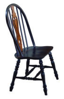 Sunset Trading Sunset Selections DLU124SAB2 Dining Room Chair Black, DLU 124 S AB 2