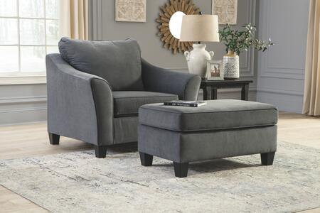Signature Design by Ashley Sanzero 94204232SET Living Room Set Gray, Living Room