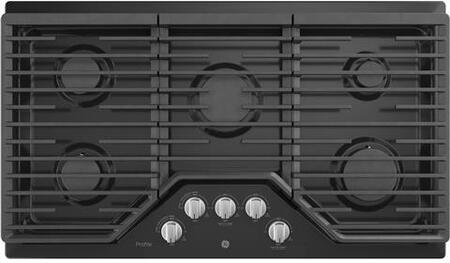 GE Profile PGP7036DLBB Gas Cooktop Black, Main View