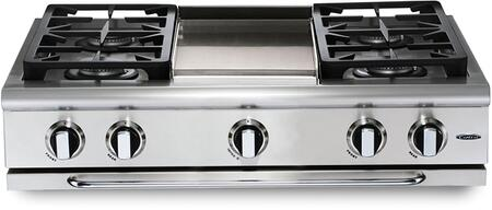 Capital Precision GRT364GN Gas Cooktop Stainless Steel, Main Image