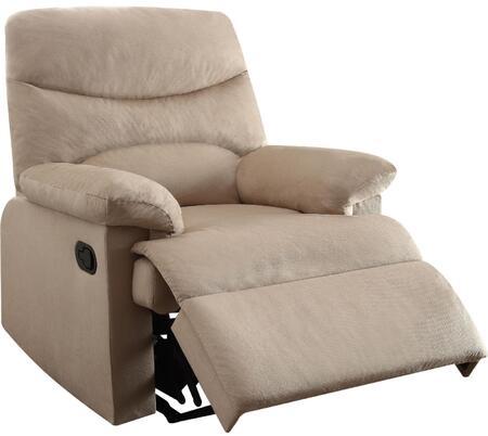 Acme Furniture Arcadia 00702 Recliner Chair Beige, 1