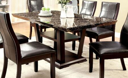 Furniture of America Clayton I CM3933TTABLE Dining Room Table Brown, Main Image