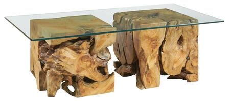 Hidden Treasures Collection 090-1015R SQUARE ROOT TABLE WITH GLASS TOP in