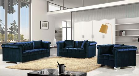 Meridian Kayla 739454 Living Room Set Blue, NavySet