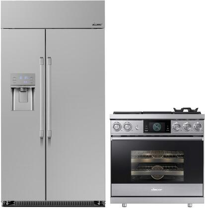 2 Piece Wi-Fi Connected Kitchen Appliances Package with PYE22PSKSS 36″ French Door Refrigerator and PGS960SELSS 30″ Slide-in Gas Range in Stainlesss