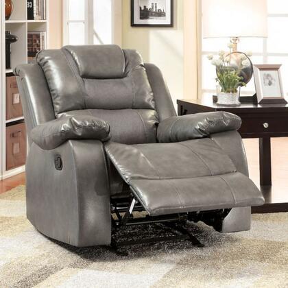Furniture of America Grandolf CM6813CH Recliner Chair Gray, Main Image