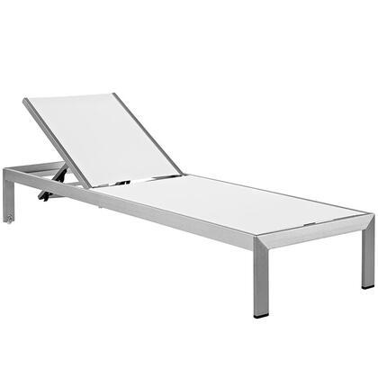 Modway Shore EEI2249SLVWHI Lounge Chair White, Main Image