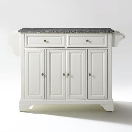 Crosley Furniture Lafayette KF30003BWH Kitchen Island White, KF30003BWH W1