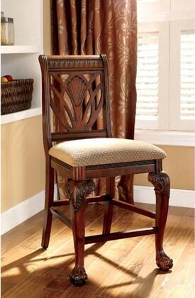 Furniture of America Petersburg II CM3185PC2PK Bar Stool Brown, Main Image