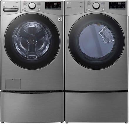 LG  1289264 Washer & Dryer Set Graphite Steel, 1