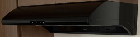 Zephyr Essentials Power AK2100BB Under Cabinet Hood Black, Black