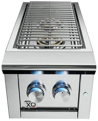 XOGSIDEBURNL 13″ Liquid Propane Double Side Burner with 2 Burners  LED Control Lights and 24000 BTU in Stainless