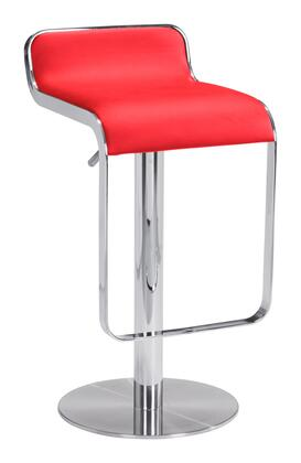 Zuo Equino 301112 Bar Stool Red, 301112 Front