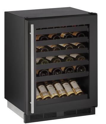 U-Line 1000 U1224WCB00B Wine Cooler 26-50 Bottles Black, Main Image