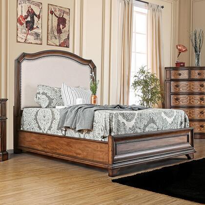 Furniture of America Emmaline CM7831FQBED Bed Brown, 1