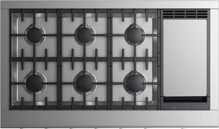 Fisher Paykel Professional CPV2486GDNN Gas Cooktop Silver, Top view