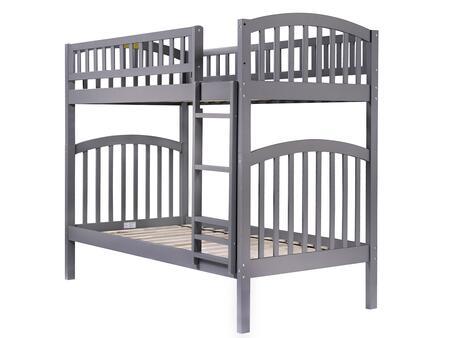 Atlantic Furniture Richland AB64109 Bed Gray, AB64109