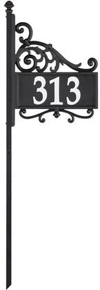 Whitehall Products Reflective 14337 Mailbox Accessories Black, Main Image