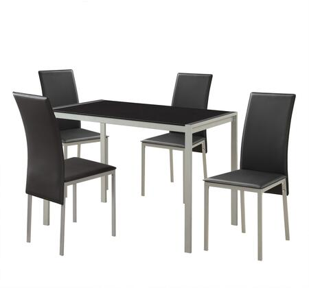 Acme Furniture Vallo 72335 Dining Room Set Silver, Dining Room Set