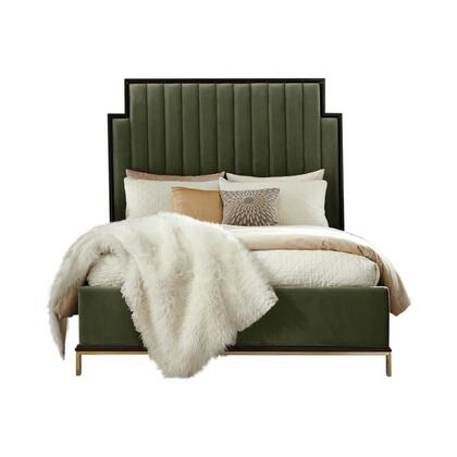 Formosa Collection 222821KE 85.75″ Eastern King Bed with Upholstered Platform Base  Wood Framed Upholstered Sectioned Headboard and Beautiful Wood