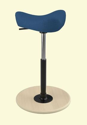 Varier Move Small MOVESMALL2700STEELCUTTRIO2865NATSMBLK Office Stool, Main Image