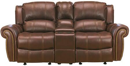 Myco Furniture Gretna GR900LBR Loveseat Brown, 1
