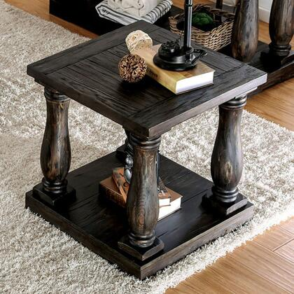Furniture of America Keira CM4455ETABLE End Table Brown, Main Image