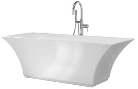 BT-768 Abzu Collection 67″ Bathtub with Freestanding Design  Rectangular Shape  Drain and Overflow Included  in
