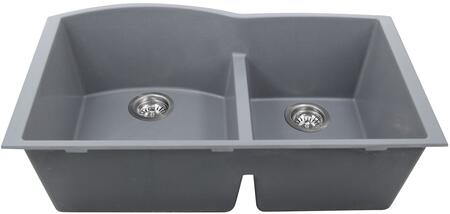 PR6040-TI-UM Plymouth Collection Sink 33″ Undermount Sink with Double Bowls  Sound Absorption  Scratch Resistant and Heat Resistant  in