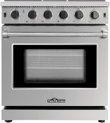 Thor Kitchen LRG3001U Freestanding Gas Range Stainless Steel, Main Image
