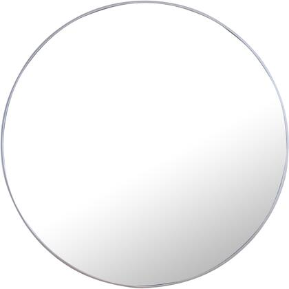 MR4049S Metal Frame Round Mirror 48″ Silver