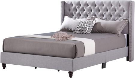 Glory Furniture Julie G1904KBUP Bed Gray, 1