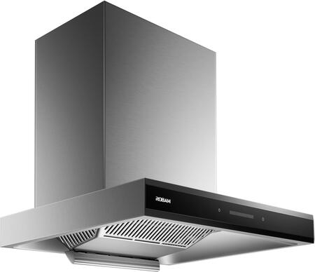 A831 30″ Wall Mount or Under Cabinet Ducted Range Hood with Modern Kitchen Vent Hood  Powerful Motor Rated at 800PA with 42db Noise Level  Fits 6