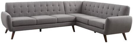 Acme Furniture Essick 52765 Sectional Sofa Gray, Sectional Sofa
