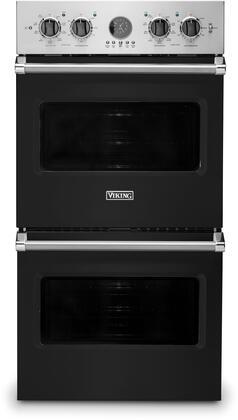 Viking 5 Series VDOE527BK Double Wall Oven Black, Main Image